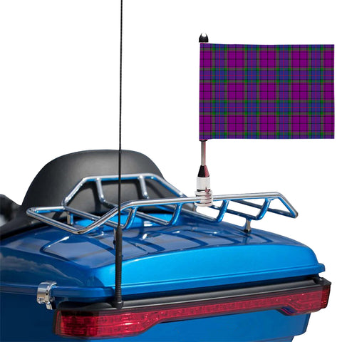Wardlaw Modern Clan Tartan Motorcycle Flag