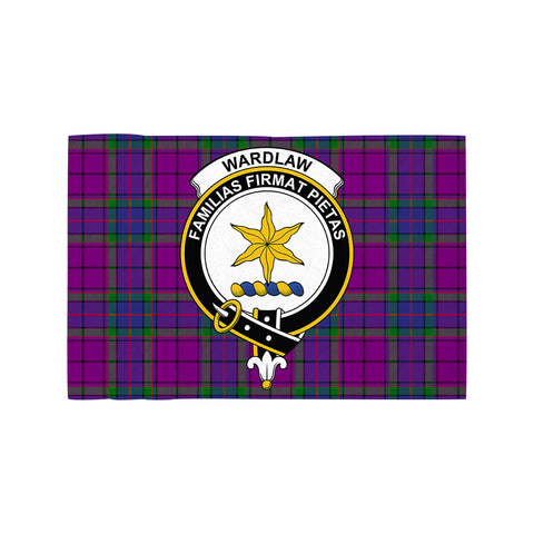 Image of Wardlaw Modern Clan Crest Tartan Motorcycle Flag