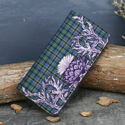 Image of Weir Ancient Tartan Wallet Women's Leather Thistle A91
