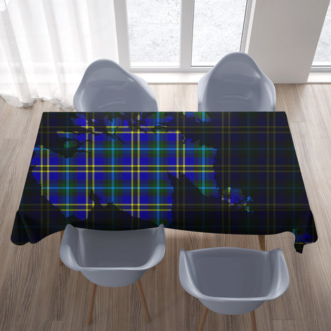 Weir Modern Tartan Map Tablecloth TH8