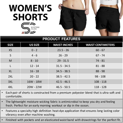 Cochrane Ancient Crest Tartan Shorts For Women K7