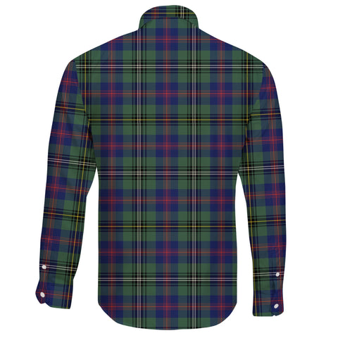 Wood Modern Tartan Clan Long Sleeve Button Shirt A91