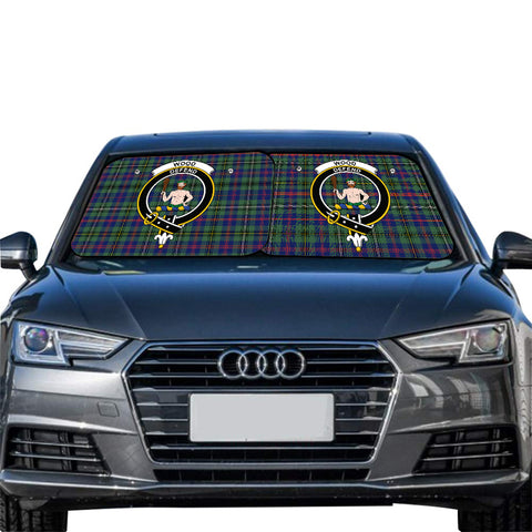 Wood Modern Clan Crest Tartan Scotland Car Sun Shade 2pcs