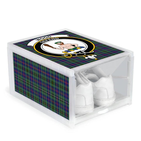 Wood Modern Clan Crest Tartan Scottish Shoe Organizers