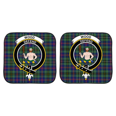 Wood Modern Clan Crest Tartan Scotland Car Sun Shade 2pcs K7