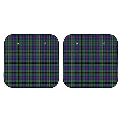 Wood Modern Clan Tartan Scotland Car Sun Shade 2pcs K7