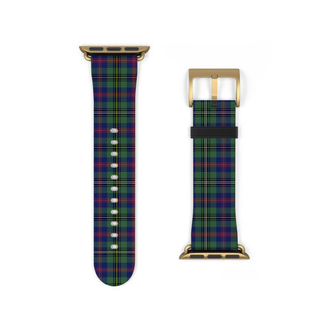 Wood Modern Scottish Clan Tartan Watch Band Apple Watch
