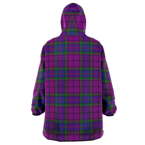Image of Wardlaw Modern Snug Hoodie - Unisex Tartan Plaid Back