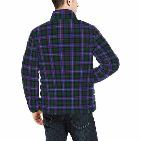 Image of Hunter Modern Clan Scotland Tartan  Men's Lightweight Bomber Jacket K9