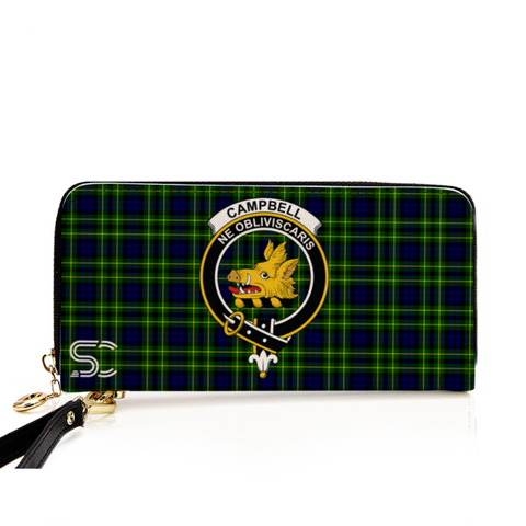 Campbell Of Breadalbane Modern Crest Tartan Zipper Wallet