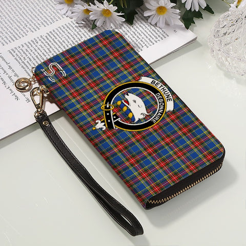Image of Bethune Crest Tartan Zipper Wallet™