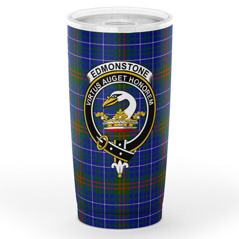 Edmonstone (of Duntreath) Tartan Tumbler, Scottish Edmonstone (of Duntreath) Plaid Insulated Tumbler - BN