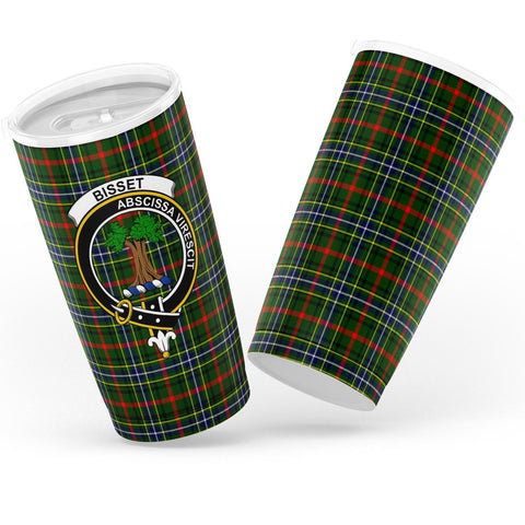 Bisset Tartan Tumbler, Scottish Bisset Plaid Insulated Tumbler - BN