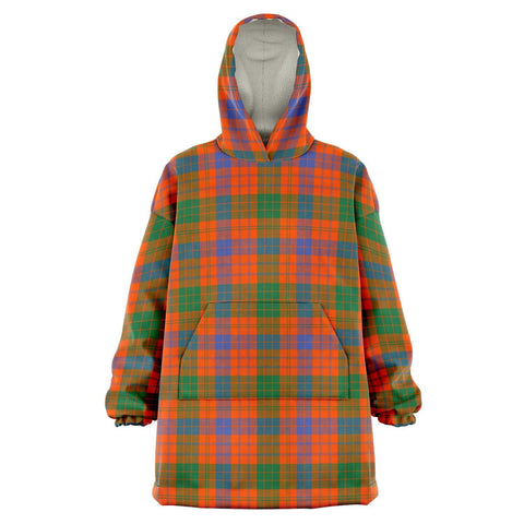 Image of Ross Ancient Snug Hoodie - Unisex Tartan Plaid Front