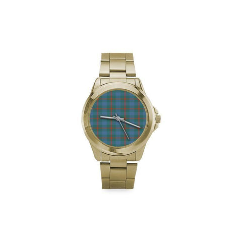 Image of Agnew Ancient Tartan Custom Gilt Watch S8 One Size / Custom Gilt Watch Steel Watches