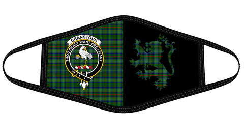Image of Cranstoun Clan Badge Lion Mask Tartan Version 2 K6