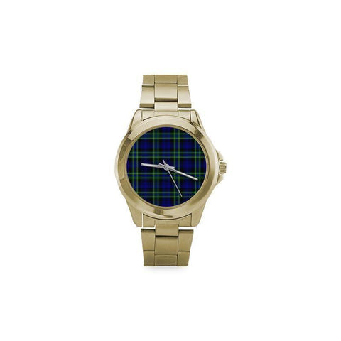 Image of Arbuthnot Modern Tartan Custom Gilt Watch S8 One Size / Custom Gilt Watch Steel Watches