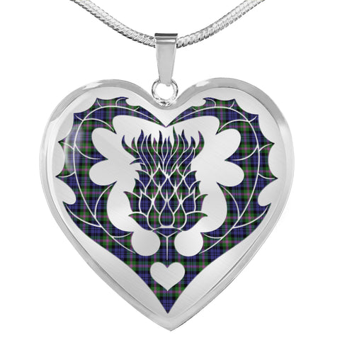 Baird Modern Tartan Luxury Necklace Luckenbooth Thistle TH8