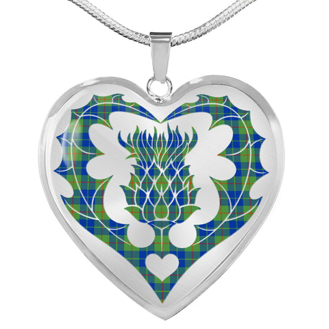 Barclay Hunting Ancient Tartan Luxury Necklace Luckenbooth Thistle TH8