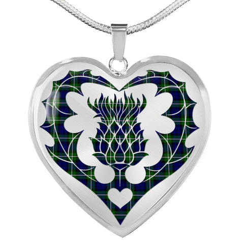 Forbes Modern Tartan Luxury Necklace Luckenbooth Thistle TH8