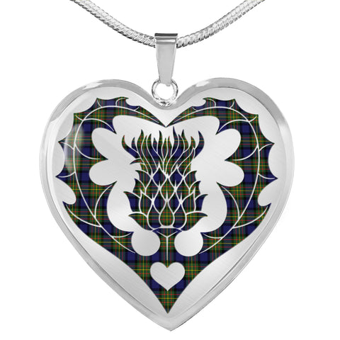 MacLaren Modern Tartan Luxury Necklace Luckenbooth Thistle TH8