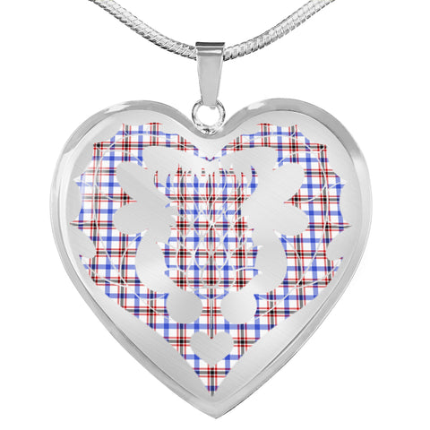 Boswell Modern Tartan Luxury Necklace Luckenbooth Thistle TH8
