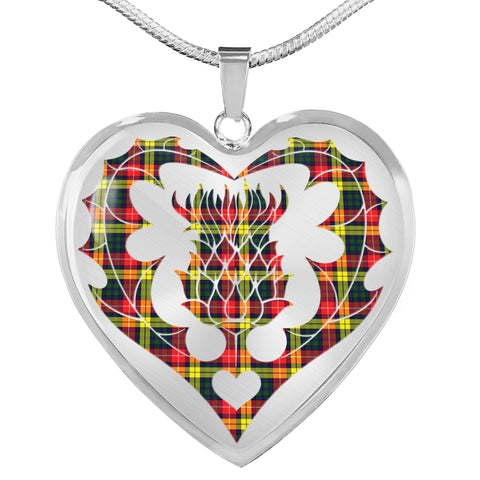 Buchanan Modern Tartan Luxury Necklace Luckenbooth Thistle TH8