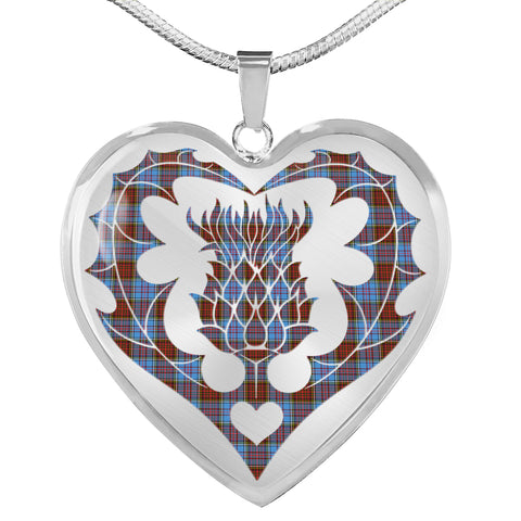 Anderson Modern Tartan Luxury Necklace Luckenbooth Thistle TH8