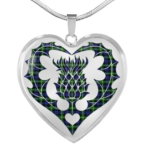 Image of Baillie Modern Tartan Luxury Necklace Luckenbooth Thistle TH8