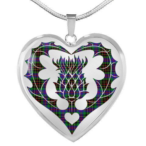 Brodie Hunting Modern Tartan Luxury Necklace Luckenbooth Thistle TH8
