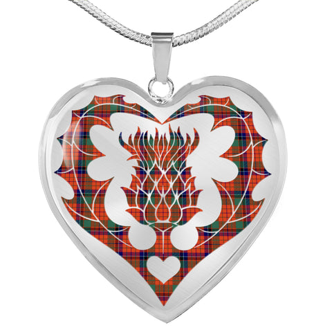 Nicolson Ancient Tartan Luxury Necklace Luckenbooth Thistle TH8