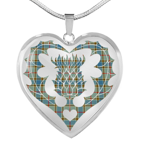Balfour Blue Tartan Luxury Necklace Luckenbooth Thistle TH8