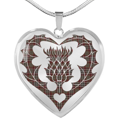 Nicolson Hunting Weathered Tartan Luxury Necklace Luckenbooth Thistle TH8