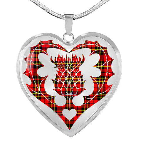 Image of Brodie Modern Tartan Luxury Necklace Luckenbooth Thistle TH8