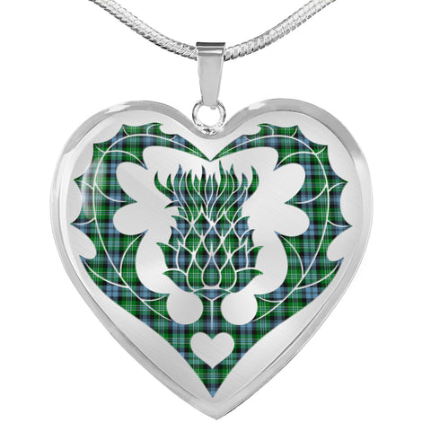 Arbuthnot Ancient Tartan Luxury Necklace Luckenbooth Thistle TH8