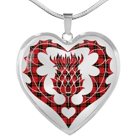 Image of MacQueen Modern Tartan Luxury Necklace Luckenbooth Thistle TH8