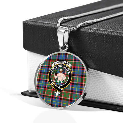 Aikenhead Tartan Crest Circle Necklace