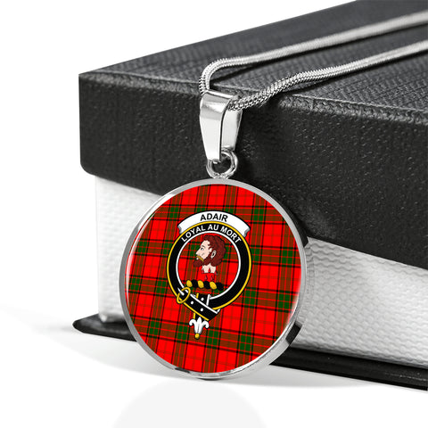 Adair Tartan Crest Circle Necklace