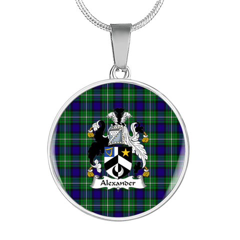 Alexander Tartan Crest Circle Necklace