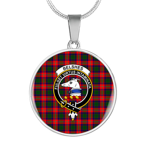 Image of Belshes  Tartan Crest Circle Necklace