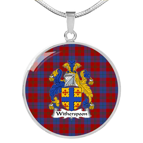 Witherspoon Tartan Crest Circle Necklace HJ4