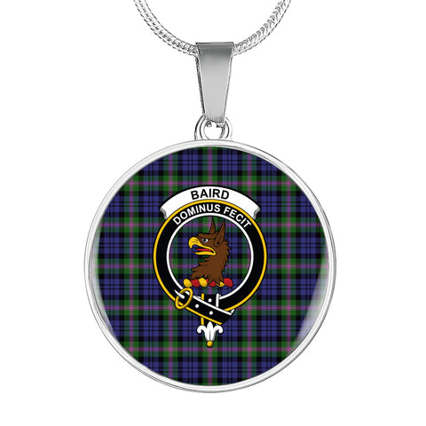 Baird Modern Tartan Crest Circle Necklace