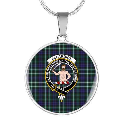 Allardice Tartan Crest Circle Necklace