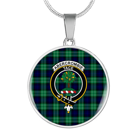 Abercrombie Tartan Crest Circle Necklace