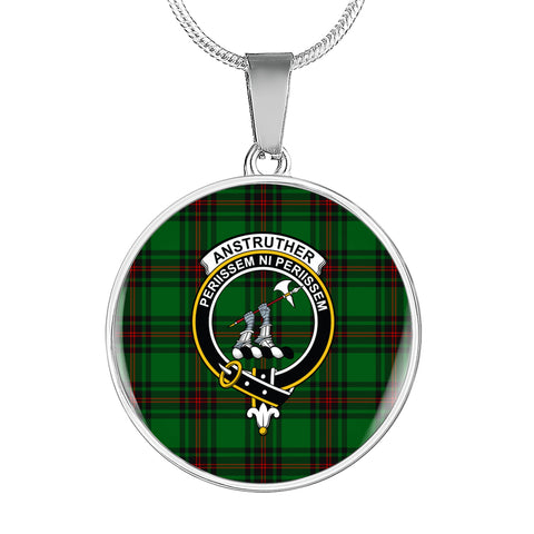 Anstruther Tartan Crest Circle Necklace