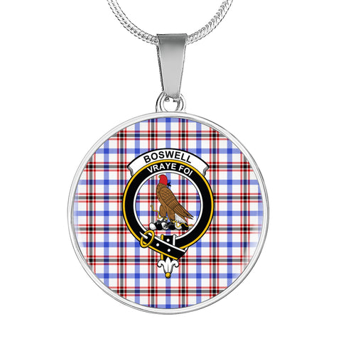 Boswell Modern Tartan Crest Circle Necklace