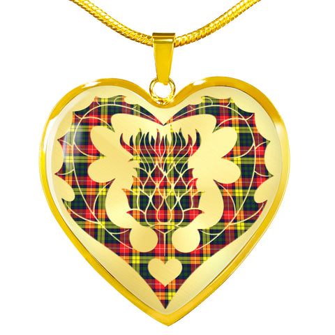Image of Buchanan Modern Tartan Luxury Necklace Luckenbooth Thistle TH8
