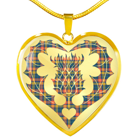 Buchanan Ancient Tartan Luxury Necklace Luckenbooth Thistle TH8