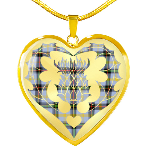 Bell of the Borders Tartan Luxury Necklace Luckenbooth Thistle TH8