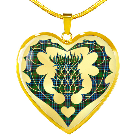 Newlands of Lauriston Tartan Luxury Necklace Luckenbooth Thistle TH8